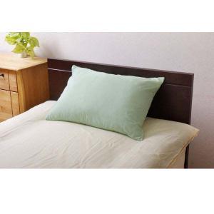 『売切れ御免』 リバーシブル リバ枕カバー63IT グリーン/ライトグリーン 9803061 43×63cm〔ラグ カーペット 家具〕|kilat