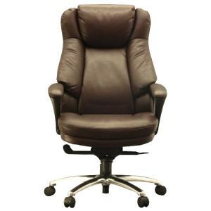 『代引不可』 ワーキングチェア スリンキー ECOレザー ブラウン 108699 インテリア 家具 オフィス家具|kilat