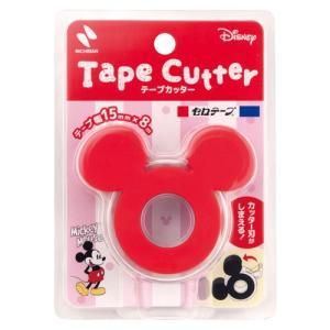 『売切れ御免』 ニチバン セロテープ テープカッター ミッキーマウス 赤 CTD-15RD オシャレ かわいい|kilat