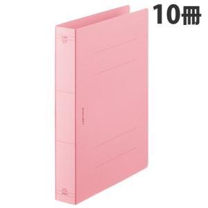 『売切れ御免』 ライオン事務器 フラットファイル 特厚とじ A4S ピンク 10冊 AX-516S-10P|kilat