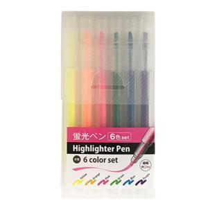 蛍光ペン 6色セット ケース入|kilat