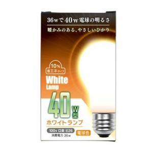 ホワイトランプ 40W型 100V 36W E26 9081-2|kilat