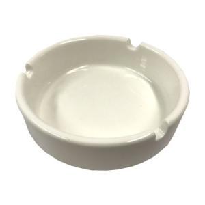 陶器灰皿 Mサイズ 白 MB-8530|kilat