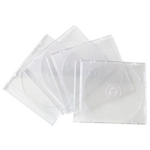 CD&DVDケース スリムタイプ 4P クリア|kilat