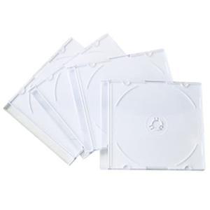 CD&DVDケース スリムタイプ 4P ホワイト|kilat
