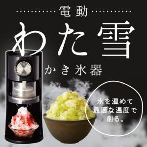 ドウシシャ 電動 わた雪かき氷器 DSHH-18 『6月21...