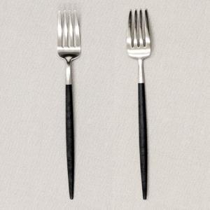 『6月21日15時まで期間限定価格』 Cutipol クチポール GOA Black ゴア ブラック Dessert fork デザートフォーク|kilat|03