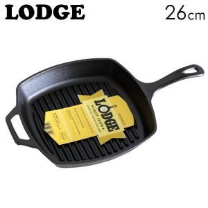 LODGE ロジック スクエアグリルパン 10-1/2インチ 26cm SQUARE CAST IRON GRILL PAN L8SGP3|kilat