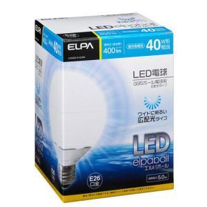 『売切れ御免』 ELPA LEDエルパボール(E26口金) 電球ボール形 昼光色相当 LDG5D-G-G200|kilat