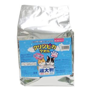 ペット用大判厚手ウェットティッシュ『クリンピカ タオル』 詰め替え用(150枚入) kilat