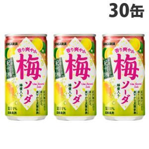 購入単位:1箱(30缶)  缶ジュース カンジュース かんじゅーす さんがりあ サンガリア ウメジュ...