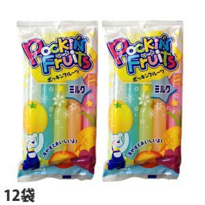 マルゴ ポッキンフルーツミルク 10本入×12袋 チューペット 棒ジュース ジュース アイス ポッキ...