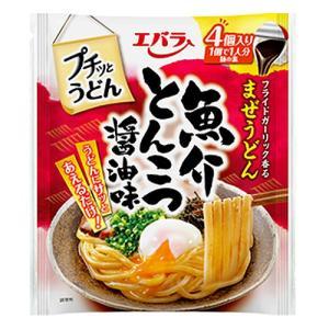 エバラ食品 プチッとうどん 魚介とんこつ醤油味 22g×4|kilat