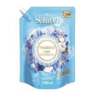香りサフロン 柔軟剤しわ防止 コットンフラワー 大容量詰替 1100ml