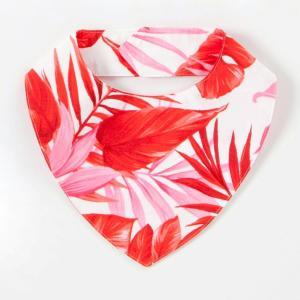 ハワイアン スタイ 白地に赤とピンク よだれかけ|kilaware