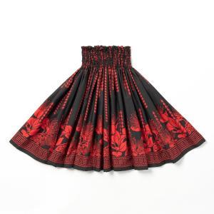 パウスカート 東北 タパ レフア 赤 ブラック 黒 カヒコ柄