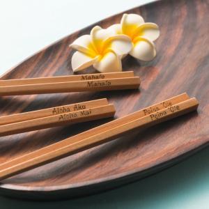ハワイアン 箸 斧折樺の五角ばし Poina Ole 大 23cm 東北 ネコポス可 kilaware 02