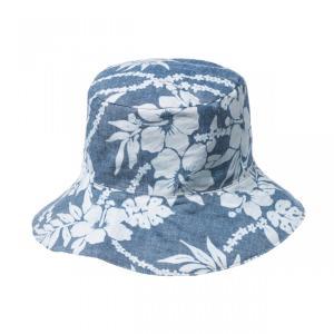 35%OFF ハワイアン ハット 帽子 ブルー ハイビスカス ムラ染め リバーシブル kilaware