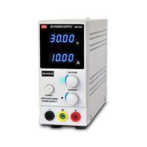 直流安定化電源 30V 10A 直流電源 スイッチング式 ワニ口テストリード付属 自動温度制御冷却ファン 直流電源装 kimakai