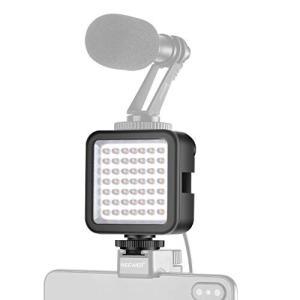 Neewer 超高輝度ミニLEDビデオライト 調光可能なハイパワー49LEDパネルビデオライト DJ...
