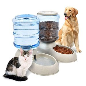 ペット自動給水器 セット Rakuby ペット給水器  給餌器 3.75L 大容量 ペットボトル 猫 犬自動給水器 自動 軽量 便利 kimakai