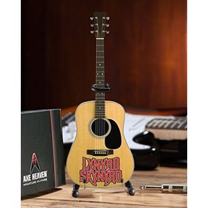 AXE HEAVEN Officially Licensed Lynyrd Skynyrd Logo Natural Finish Acoustic Mini Guitar [並行輸入品]|kimakai