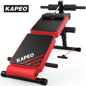 KAPEO トレーニングベンチ 腹筋 背筋 フォールディング フラットインクラインベンチ 折り畳み ...