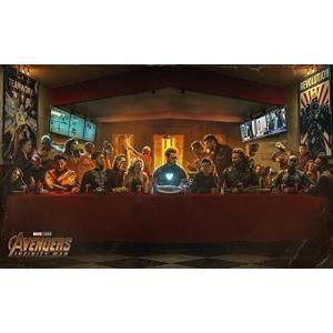 アベンジャーズ インフィニティ・ウォー 最後の晩餐風パロディ 約100cm60cm アートポスター ...