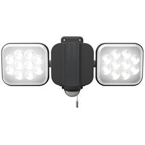 ムサシ RITEX フリーアーム式LEDセンサーライト(12W×2灯) 「コンセント式」 防雨型 L...