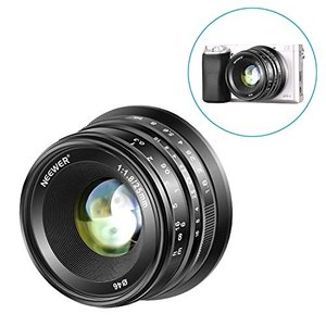 Neewer 25mm f/1.8手動フォーカスプライム固定レンズ 全金属構造 Sony E-マウン...