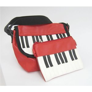 ピアノ鍵盤ミニショルダーバッグ&ポーチ|kimochidesu-net