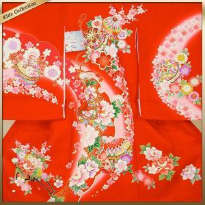 女の子 女児用 産着 祝着 初着 お宮参り のしめ 熨斗目 帽子セットプレゼント中 赤系|kimono-cafe