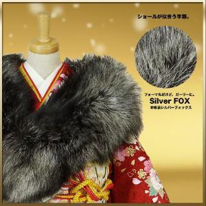 シルバーフォックス ショール Silver Fox 狐ショール 成人式 振袖 kimono-cafe 02