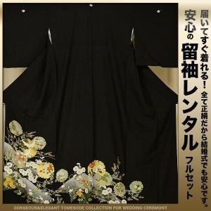 レンタル留袖 Mサイズ 20点フルセット! 往復送料無料|kimono-cafe