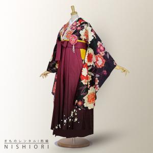 2尺袖 着物 袴 フルセット レンタル Sサイズ ATERIESAB/アトリエサブ ブランド 小学生 対応 kimono-cafe