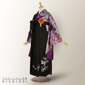 2尺袖 着物 袴 フルセット レンタル  Mサイズ From Kyoto HANAE MORI/森英恵 Mサイズ 小学生 対応 kimono-cafe