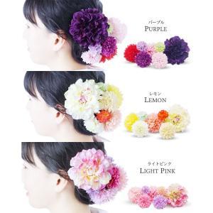 ピンポンマム コレクション 7点セット 選べる14色 髪飾り コサージュレディース|kimono-cafe|05