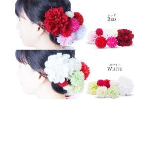 ピンポンマム コレクション 7点セット 選べる14色 髪飾り コサージュレディース|kimono-cafe|07