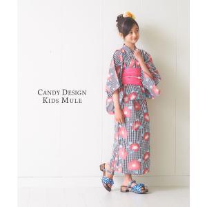 キッズ ミュール サンダル 子供 下駄 選べる2色 5サイズ 女の17cm/18cm/19cm/21cm/23cm kimono-cafe 03