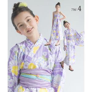 2019年 夏 新作 子供 2way 浴衣 サンドレス 4点セット しわふわ兵児帯2本セット 色柄豊富 7柄 6サイズ モダン&キュート セパレート キャミ ワンピース|kimono-cafe|10