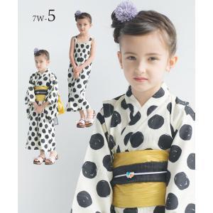 2019年 夏 新作 子供 2way 浴衣 サンドレス 4点セット しわふわ兵児帯2本セット 色柄豊富 7柄 6サイズ モダン&キュート セパレート キャミ ワンピース|kimono-cafe|11