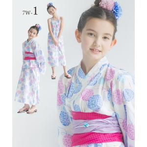 2019年 夏 新作 子供 2way 浴衣 サンドレス 4点セット しわふわ兵児帯2本セット 色柄豊富 7柄 6サイズ モダン&キュート セパレート キャミ ワンピース|kimono-cafe|07