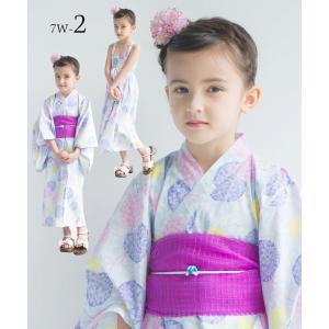 2019年 夏 新作 子供 2way 浴衣 サンドレス 4点セット しわふわ兵児帯2本セット 色柄豊富 7柄 6サイズ モダン&キュート セパレート キャミ ワンピース|kimono-cafe|08