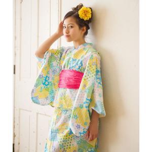 限定価格 2018年 新作 子供 2way浴衣 サンドレス 3点セット しわふわ兵児帯がセット 色柄豊富 6柄 6サイズ 100cm 110cm 120cm 130cm 140cm 150cm kimono-cafe 12