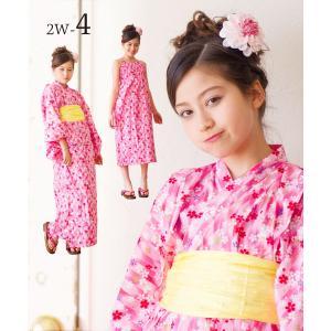 限定価格 2018年 新作 子供 2way浴衣 サンドレス 3点セット しわふわ兵児帯がセット 色柄豊富 6柄 6サイズ 100cm 110cm 120cm 130cm 140cm 150cm kimono-cafe 05