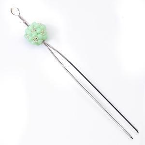 高級 かんざし 簪花しおり 一本差し 髪飾り 着物 緑 化粧箱プレゼント 78034|kimono-cafe