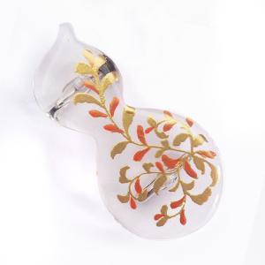 夏用 高級 帯留め花しおり 着物 帯飾り クリア ひょうたん 瓢箪 74531|kimono-cafe