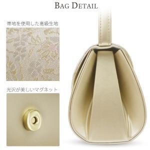 かぶせタイプ 草履バッグ セット 帯地が美しい フォーマル 高級 選べる 2色 金 銀 ゴールド シルバー フリーサイズ 留袖 訪問着に最適|kimono-cafe|02