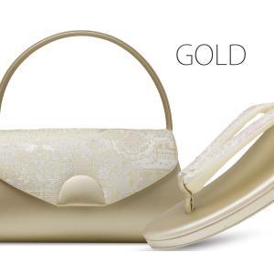 かぶせタイプ 草履バッグ セット 帯地が美しい フォーマル 高級 選べる 2色 金 銀 ゴールド シルバー フリーサイズ 留袖 訪問着に最適|kimono-cafe|05
