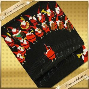 WA KKA 遊禅庵 正絹 物語ありの素敵な柄の染京袋帯お洒落着やインテリアやイベント サンタオーケストラ|kimono-cafe